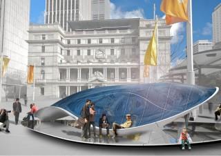 futuristic buildings, Epiphyte Pavilion, ecological building, modular summer pavilion, architecture trends, Epiphyte
