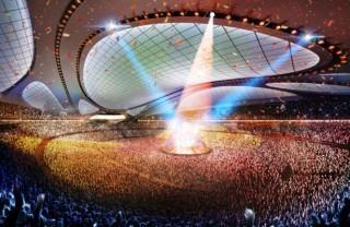 futuristic architecture, green building, Zaha Hadid, unusual structure, Zaha Hadid Architects, Japan National Stadium, Tokyo National Stadium