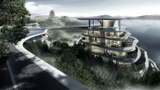 futuristic architecture, future structures, Chinese architecture, MAD, Huangshan, Huangshan Mountains, building design