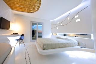 futuristic hotel, futuristic design, KLab Architecture, Cocoon Suites, futuristic architecture, Hotel Andronikos, Mykonos Island