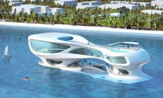 futuristic architecture, kuta beach, future buildings, futurist design, futuristic construction, marine research center, bali, indonesia, solus4