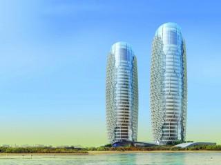 Al Bahr Towers, futuristic design, Abu Dhabi, Aedas, futuristic skyscrapers, futuristic architecture, future architecture, Mashrabiya, futuristic buildings