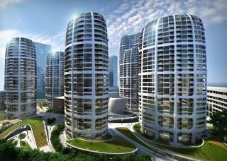 future, Zaha Hadid, architecture project, unusual structure, futuristic architecture, bratislava, culenova new city centre, futuristic