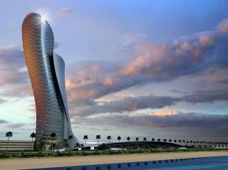future, Abu Dhabi, future buildings, futurist architecture, futurist design, Capital Gate, leaning skyscraper, future buildings, futuristic