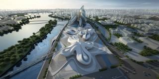 future, zaha hadid, Hunan, Changsha Meixihu, future buildings, futurist architecture, international culture and art center, futurist design, futuristic