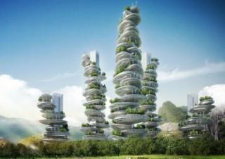 future, future architecture, Vincent Callebaut Architects, China, Shenzhen, farmscraper, VCA, Asian Cairn, architecture concept, futuristic