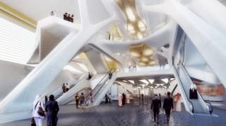 future, futuristic metro station, Zaha Hadid Architects, Riyadh, Saudia Arabia, designs, future buildings, future city, architecture concept, futuristic