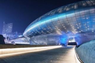 Futuristic Architecture, Zaha Hadid, Dongdaemun Design Plaza, Seoul, South Korea, Future Architecture, Modern Building
