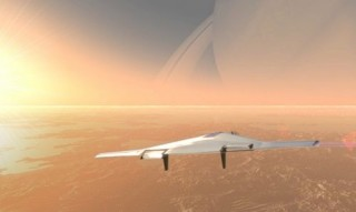 Space Future, Futuristic Airplane, Inflatable Aircraft for Flying in the Atmosphere of Venus