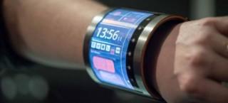 FlexEnable, Flexible Display, Futuristic Gadget, Wearable Electronics, LCD bracelet, OLCD screen