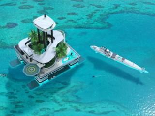 Futuristic Lifestyle, Migaloo Kokomo Ailand, Floating Private Island, Luxury, Floating Building, Watercraft, Wealth, Yacht, Rich