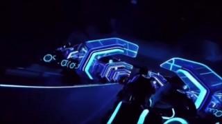 Futuristic Bike, Tron Legacy, POV, Tron Lightcycle Power Run ride at Shanghai Disneyland
