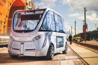 NAVYA ARMA, Autonomous Vehicle, Electric Bus, Driverless Shuttle, Future Trends, Futuristic Vehicle, EDF nuclear plant, Civaux, France, Self-Driving Electric Vehicle