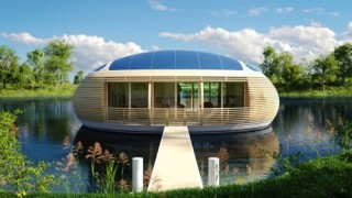 Futuristic Architecture, WaterNest 100, EcoFloLife, Eco-Friendly Floating House, Giancarlo Zema, Luxury House, Green Technology