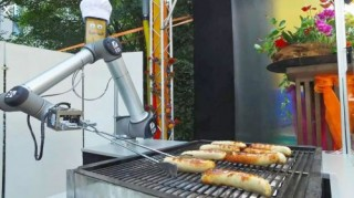 Futuristic Kitchen, BratWurst Bot, Future Food, Robotics, German Sausages, Gas Grill