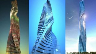 Futuristic Architecture, Dynamic Tower, Rotating Skyscraper, Dubai, UAE, The World's First Rotating Skyscraper