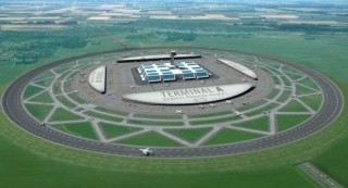 Futuristic Airports, Circular Runways, The Future of Aviation, Henk Hesselink, Aircraft, Netherlands Aerospace Centre, Airplane