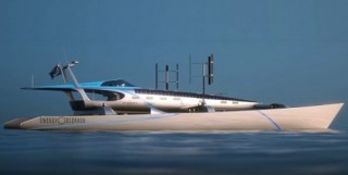 Energy Observer, Futuristic Ship, Hydrogen Vehicle, Solar Power, Wind Power, Green Powered Boat