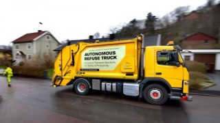Volvo, Autonomous Refuse Truck, Driverless Vehicle, Self-Driving Refuse Truck